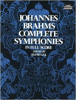 ブラームス: 交響曲全集/ドーヴァー社/大型スコア