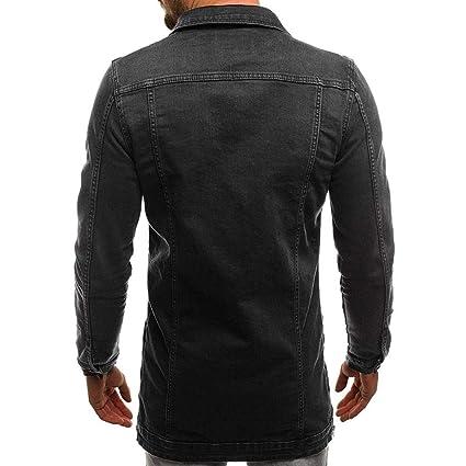 ZARLLE Chaqueta De Mezclilla con Capucha De Manga Larga Vintage De OtoñO Invierno para Hombre Slim Outwear Denim Jacket: Amazon.es: Ropa y accesorios