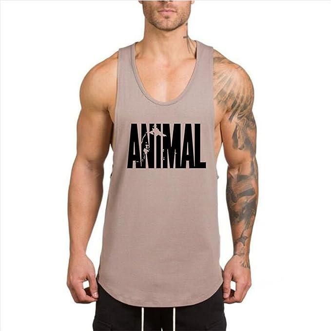 YeeHoo Hombre Animal Camisetas Sin Manga Tirantes de Deportivo Gimnasio Fitness Chaleco Tank Top 4 Colores Arms2ijR9