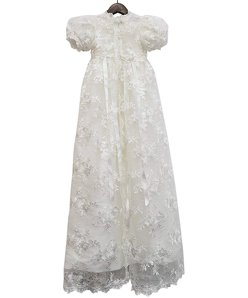 ABaowedding Lace Christening Gowns Baby Baptism Dress Newborn Baby Dress