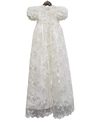 bb7d8d0a ABaowedding Lace Christening Gowns Baby Baptism Dress Newborn Baby Dress (3  M)