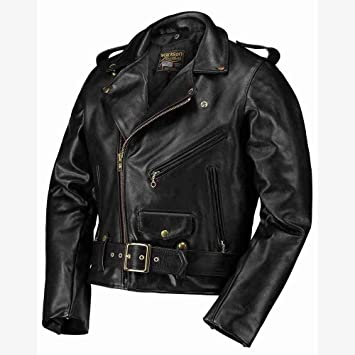Chaqueta Biker vanson Leathers Modelo C2 Negro De Piel ...