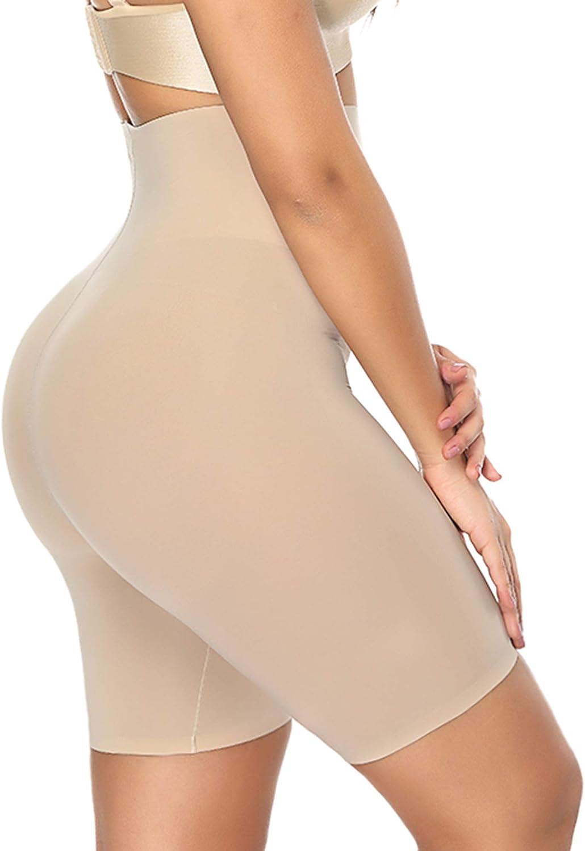 DotVol Womens Shapewear Hi-Waist Seamless Butt Lifter Panty Boyshort Tummy Control Thigh Slimmers US XL//Tag 2XL, Beige