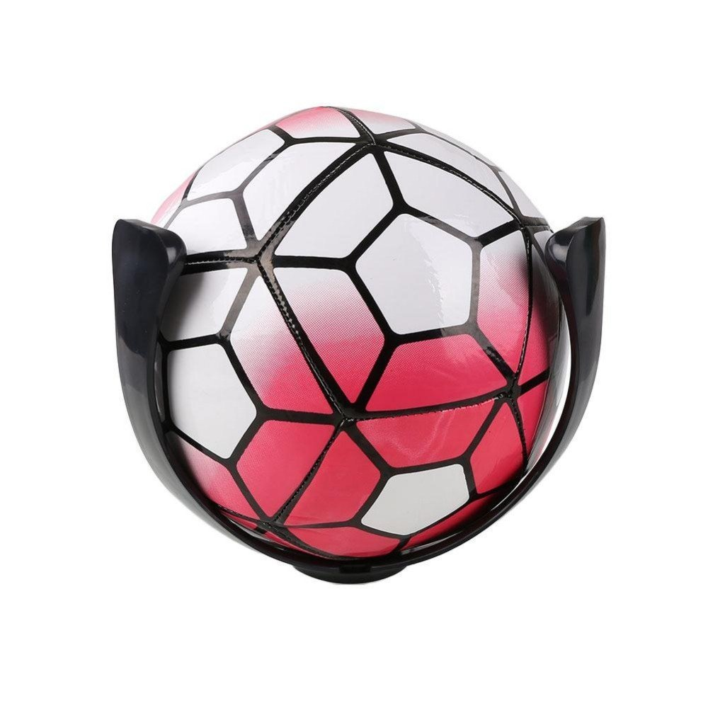 Momshand Plastic Ball Claw Wall Mount Space Save Basketball and Soccer Holder Black