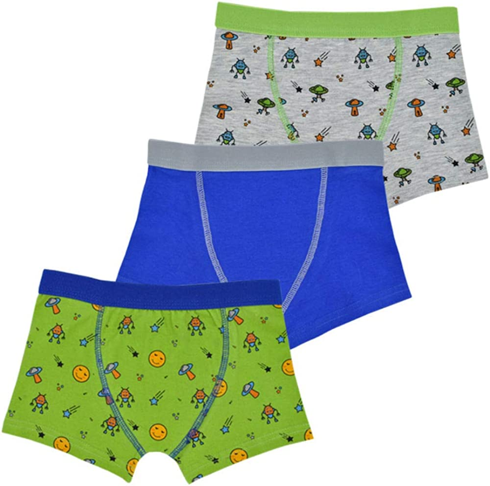 Fashion by Purdashian Boys Boxers//Boxer Shorts//Briefs//Underwear in Multi Packs with A Comfort Elasticated Waist