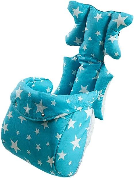 Luzoeo Bebé Cojín Reductor Universal de Algodón para Silla de Coche, Carro de Bebé Colchonetas Capazo Protector de Cuerpo para Coche (2# Azul): Amazon.es: Bebé