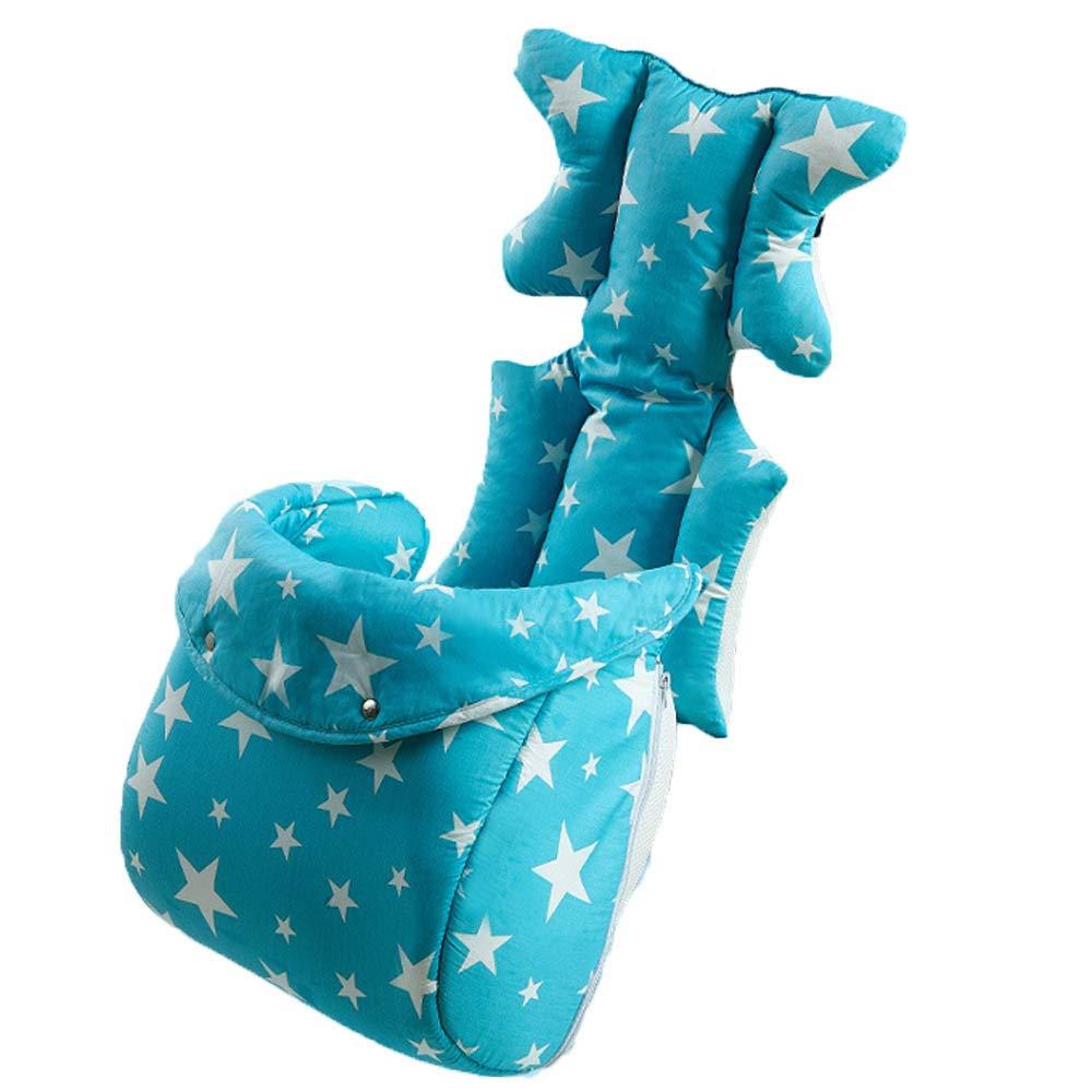 F.lashes Baby Sitzauflage Sitzeinlage Stern Fuß warme Baumwolle verdickte atmungsaktives 3D Luft-Netz Universal für Babyschale Autokindersitz Kinderwagen Buggy Auto Kissen 37×80cm