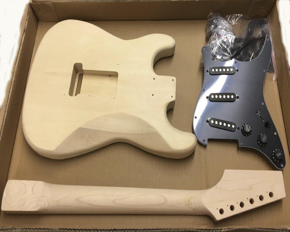 Coban Guitars HY180BR Guitarra Eléctrica Kit construcción para estudiante & Luthier Proyectos - Negro Ajuste, Full size: Amazon.es: Instrumentos musicales
