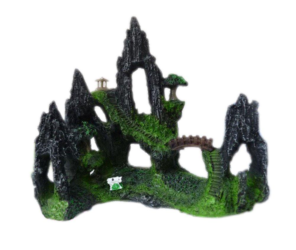 Resin Rockery Gloriette Aquarium Ornament, 16x16x9cm PANDA SUPERSTORE PS-PET2975448011-HIROCO01282