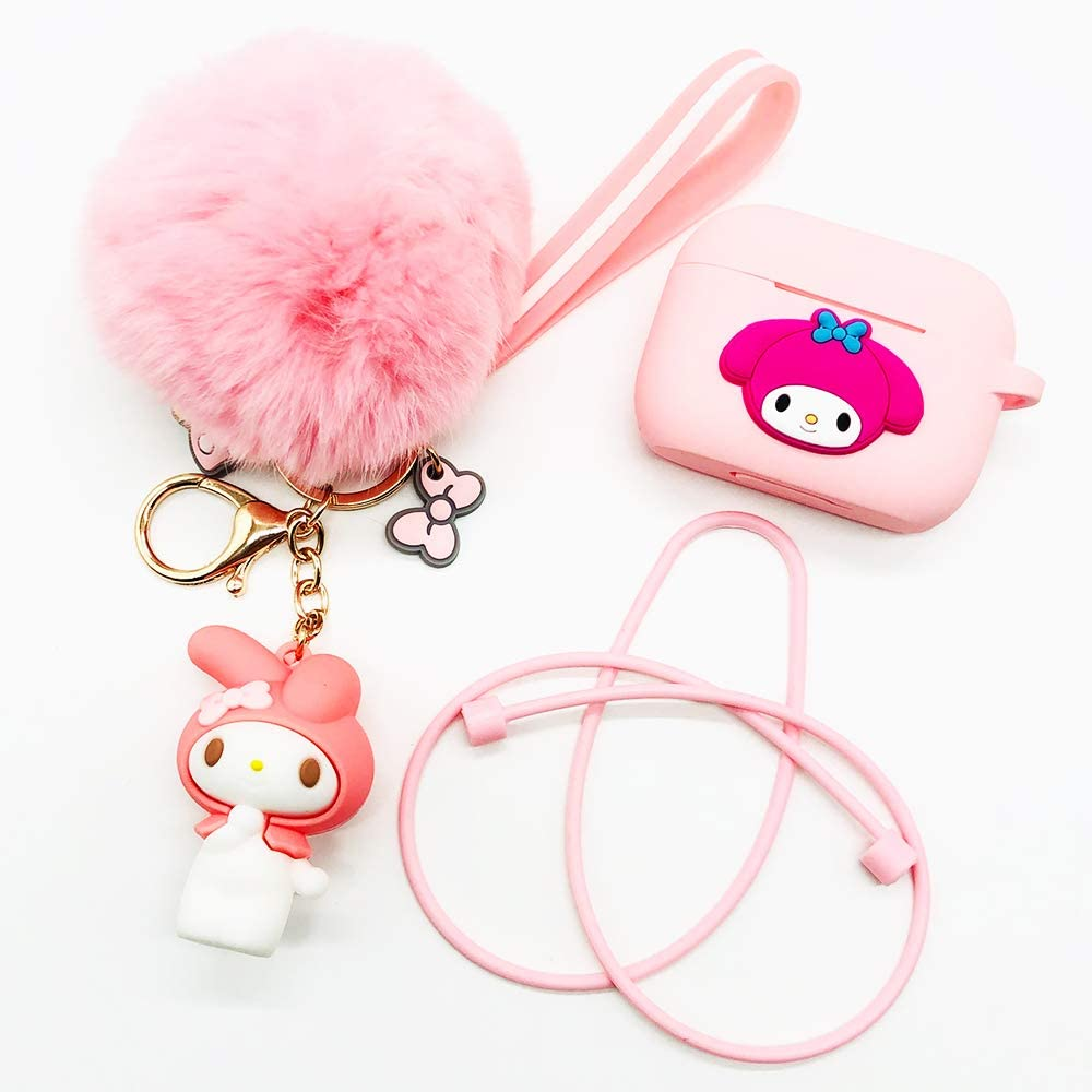 Airpods Case Keychain Funda Protectora de siliconay pielpara Apple Airpods Charging Case con Airpods Pet Keychainy Airpods Staps Verde Menta
