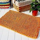 Hughapy Orange Non Slip Microfiber Carpet/Doormat/Floor mat/Bedroom/Kitchen Shaggy Area Rug Carpet (23.6'x 15.7')