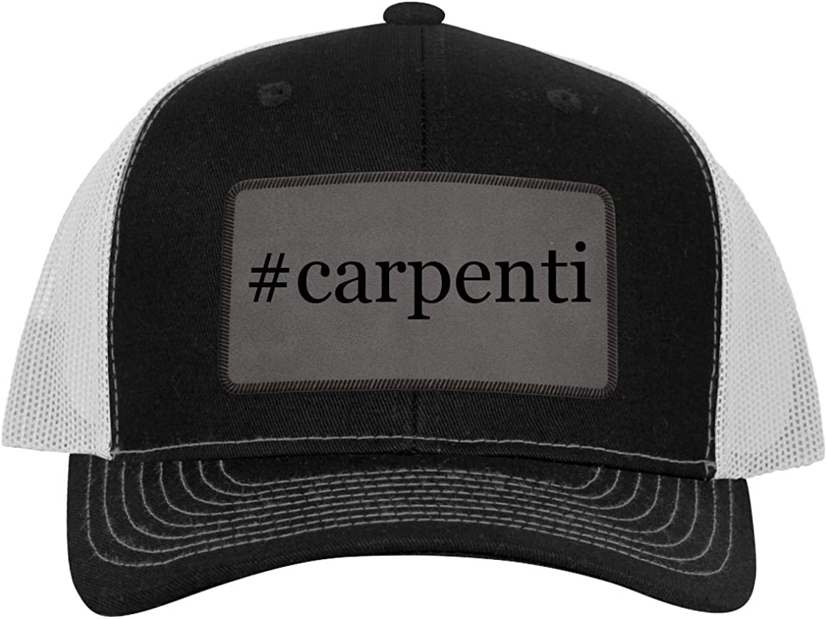 B0838SBJY4 One Legging it Around #Carpenti - Hashtag Leather Grey Patch Engraved Trucker Hat 61SmnKJ1beL