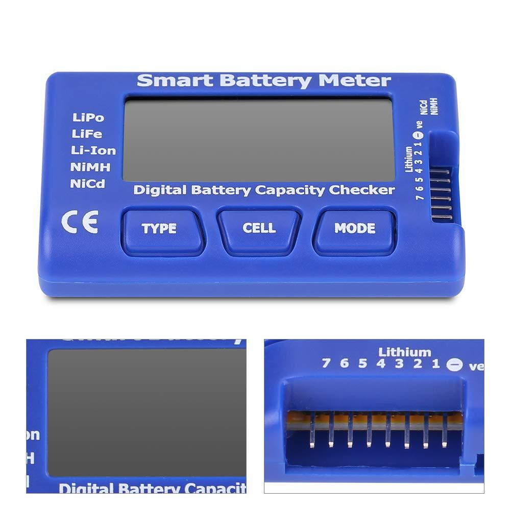 6-70V LCD Diaplay Batterie Anzeige Kapazität Spannung Tester Voltmeter mit Kabel