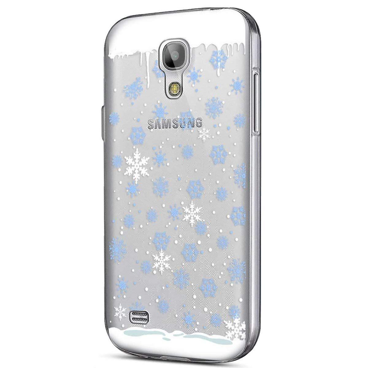 Clair Coque Samsung Galaxy S4, Coque Galaxy S4 Transparente, Samsung S4 Etui en Silicone Extra Slim Lé ger Gel TPU Souple Etui Cré atif Noë l Christmas Flocon de Neige é lan Motif Case Okssud DYY2018002188#03