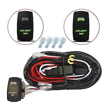 mictuning 40 Amp Relay 30 Amp fuse- Laser grün LED Light Bar LED ...