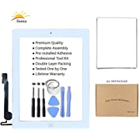 White iPad 4 Model A1458 A1459 A1460 Digitizer Replacement Screen Replacement Glass Replacement Assembly Kit - Includes…