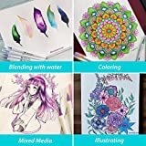 Brush Pen Set - 12 Colors - Soft Flexible Real Brush Tip, Durable, Premium Grade,Create Watercolor Effect - Best for Adult Coloring Books, Manga, Comic, Calligraphy - MozArt Supplies