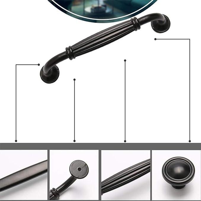 Geovne Maniglia Ad Arco in Lega di Alluminio,Maniglia per Mobili,Nera Pomelli,Maniglia per Porta,Maniglie per Mobili Preforata,per Bagno,Armadio,Guardaroba,11 Dimensioni Hole Distance:96mm//3.78in