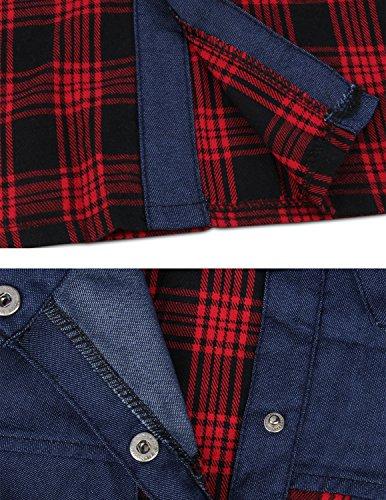Sitengle Para Mujeres Empalme Camisas de Manga Larga Camisetas a Cuadros T shirt Outwear Túnica Blusas Tops color 1