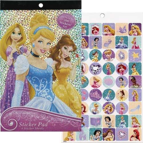 Disney Princess Sticker Pad Over 200 (Cinderella Stickers)