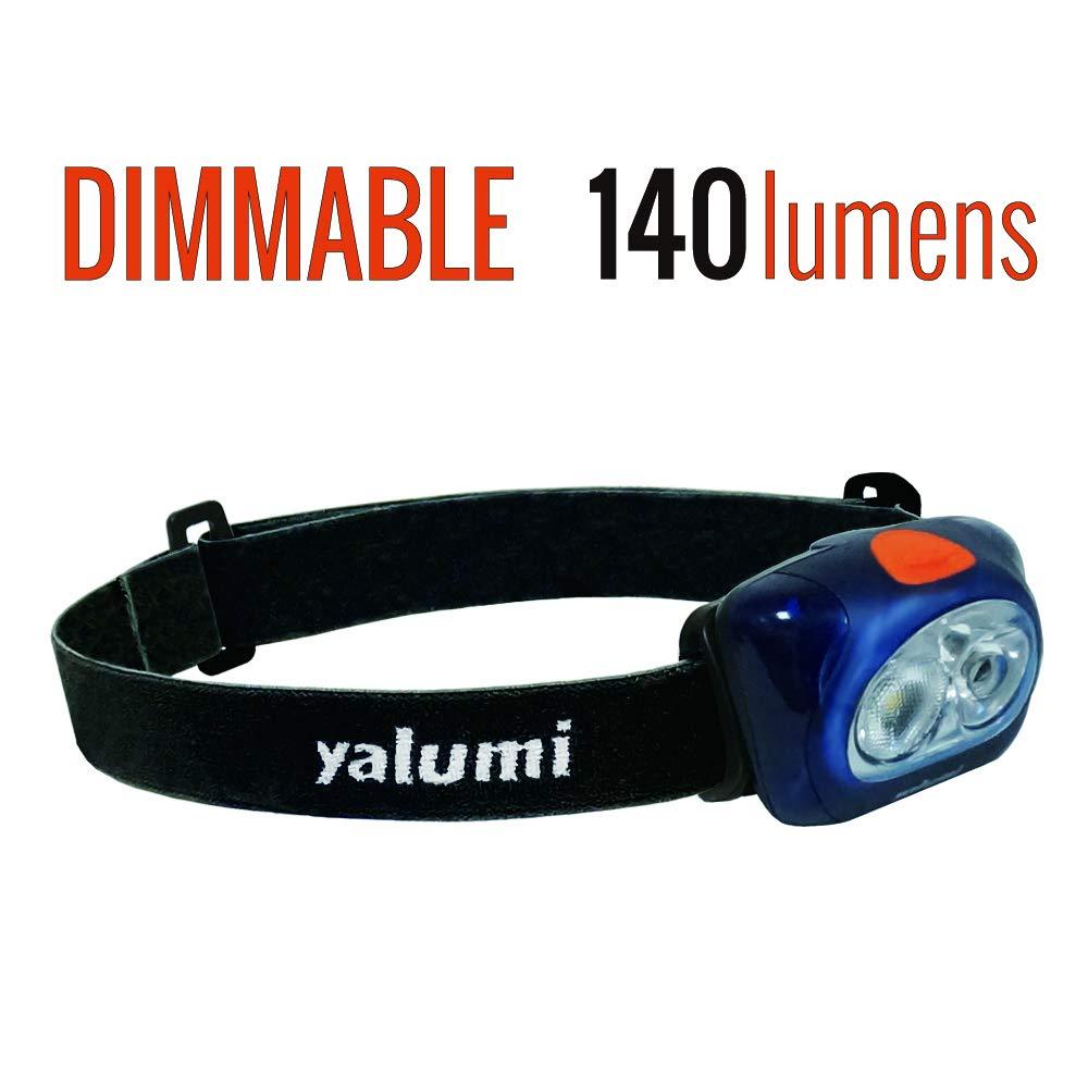 Yalumi LED Headlamp Spark Professional 120-lumen Floodlight 90-lumen Spotlight White red Night Vision, Electronic Wide Narrow beam angle switching, Less than 2.8 oz