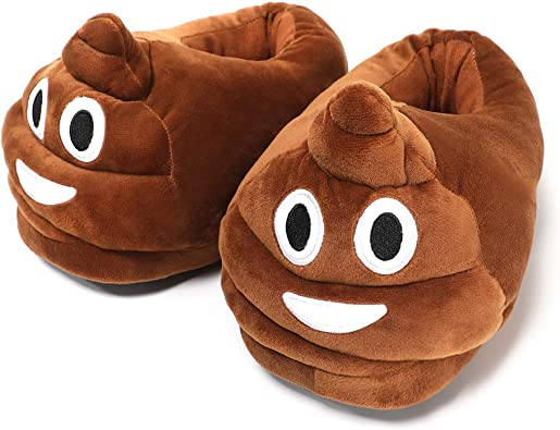 Kids Slippers warm Super Soft Winter House Shoes Emoji Cartoon Plush TV Slipper
