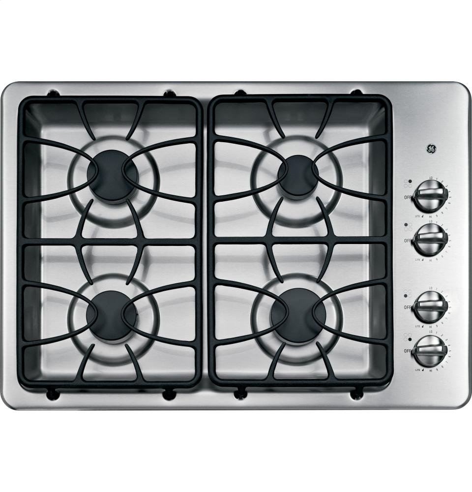 Amazon GE JGP329SETSS 30 Wide 4 Sealed Burner Gas Cooktop In Stainless Steel Appliances