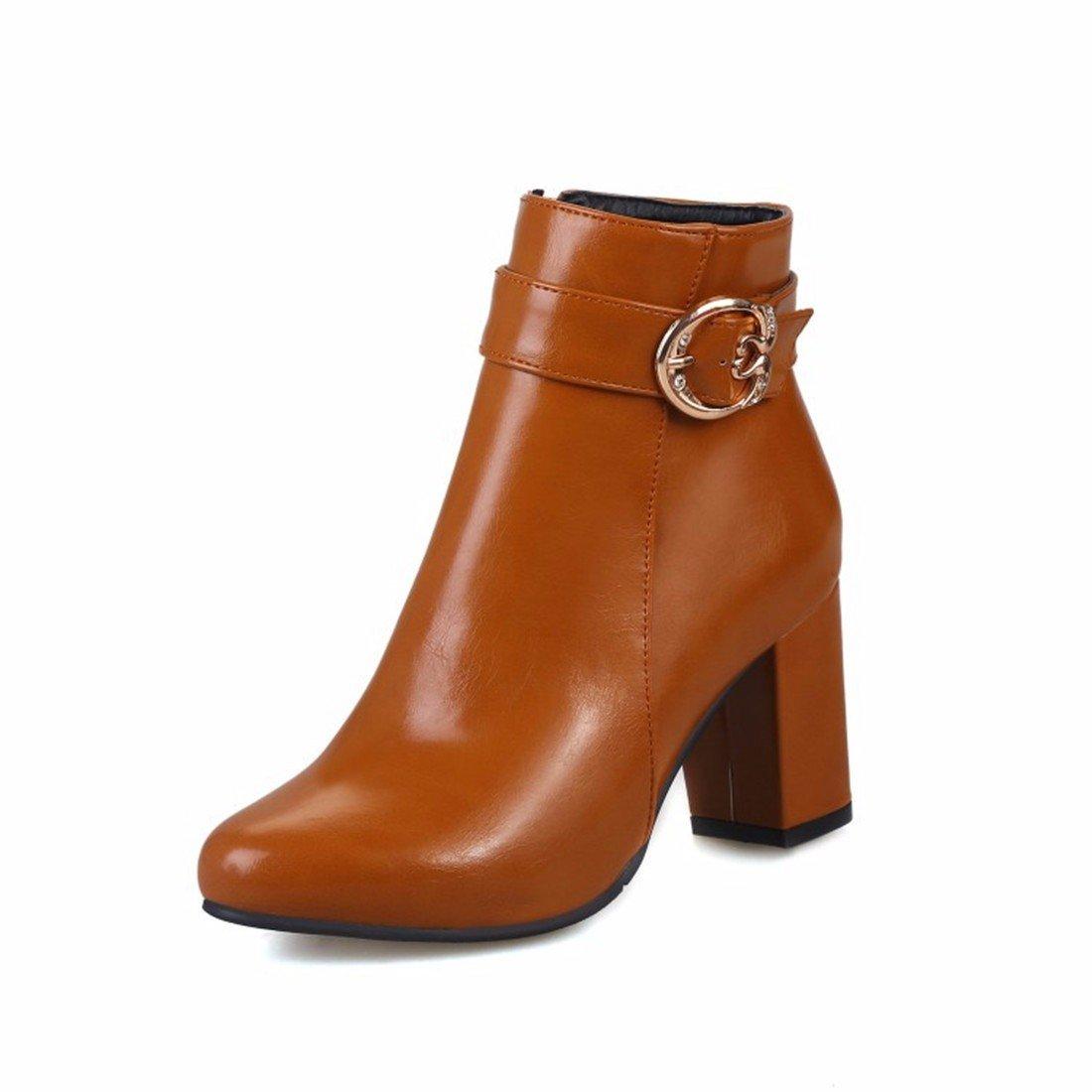 Herbst Damen Schuhe mit hohen Absätzen schnallen Stiefel Größe