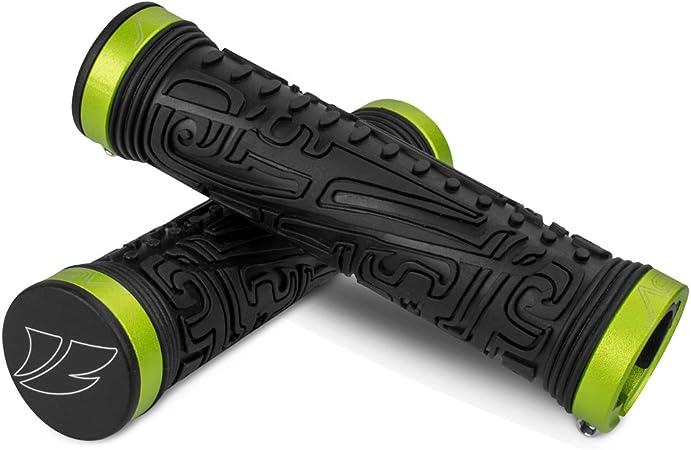 BV Bike Handlebar Grips, Double Lock-on Bicycle Grip Handle Bar End Holding Locking Grips, for MTB, BMX, Mountain, Downhill, Folding Bike