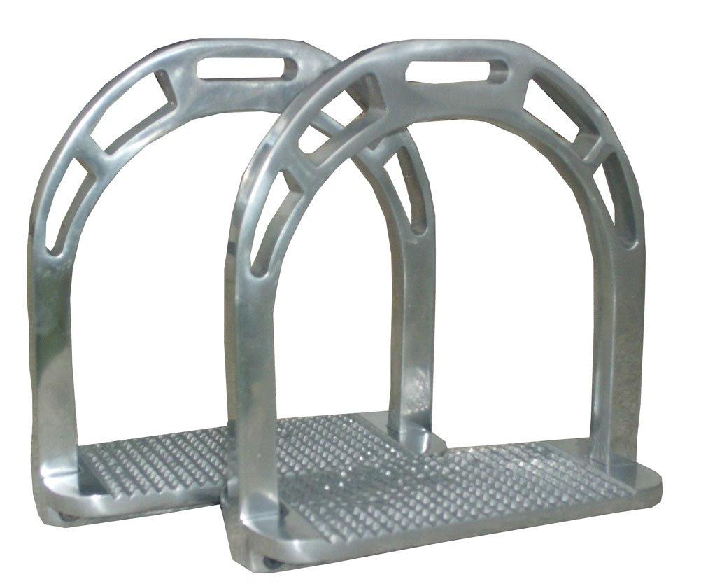 Aluminium Steigbügel ALU- extra leicht silberfarben 6 cm Trittfläche Reitsport Amesbichler