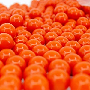 Valken Infinity Paintballs - 68cal - 2,000ct - Orange-Orange Fill