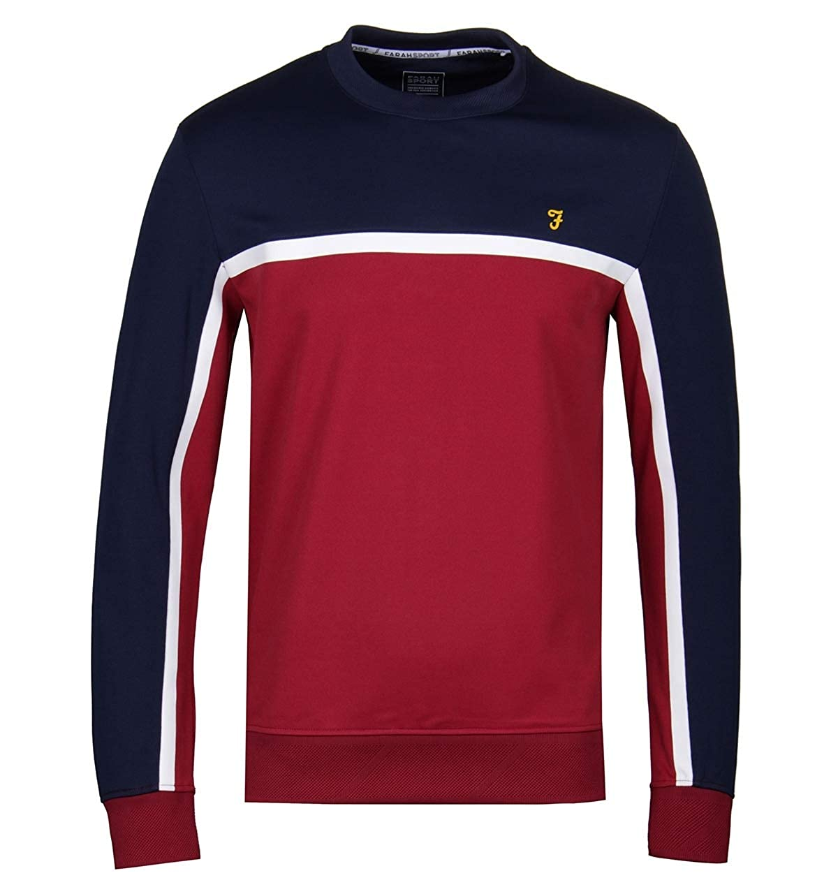 S Farah - Sweat-Shirt - Kendrew - Rouge Bleu Blanc