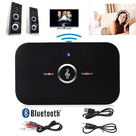 Manos Libres HiFI inalámbrico Bluetooth Audio Transmisor receptor 3.5mm para los Auriculares, Altavoz,