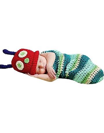 Candora™ Newborn Baby Boy Girl Beanie Crochet Hungry Caterpillar Hat Set  Party Costume Photo Props 22f6836dd16c