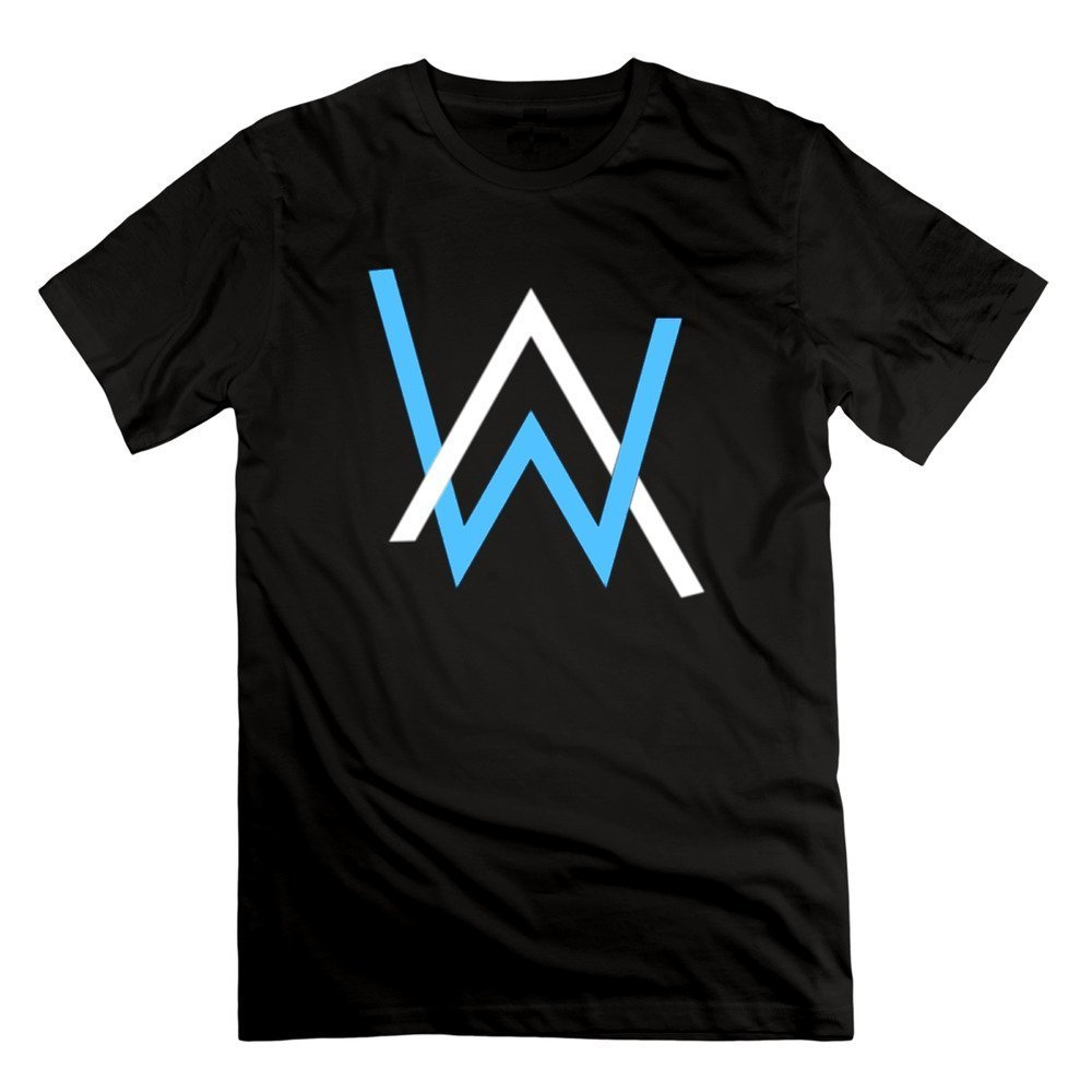 349108fe3 Men's Alan Walker AW Symbom Logo Hatful of Rain 100% Cotton Tee T-Shirts  XXXXL