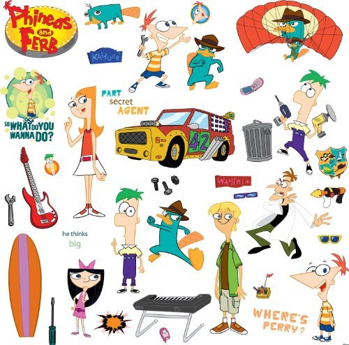 RoomMates RMK1536SCS Phineas and Ferb Peel & Stick Wall Deca