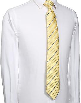 Kissties - Corbata de satén para hombre, diseño de rayas, incluye ...