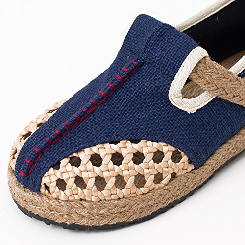 fereshte Hand-Made Chinese Style Embroidered Linen and Cotton Slip-on Women Espadrilles 533blue Yo9l5pDVT