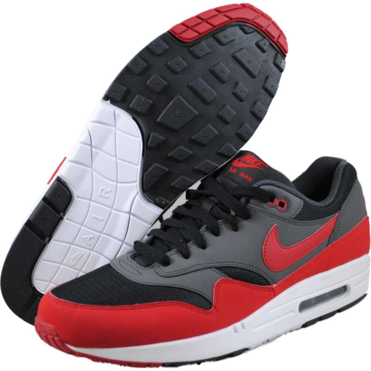 Nike Air Max 1 Essential 537383 Herren Laufschuhe  425 EU|BLACK/GYM RED/ANTHRACITE/WHITE