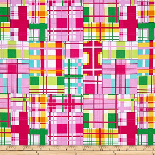 Madras Patch Fabric - Michael Miller Madras Patch Happy Fabric by The Yard
