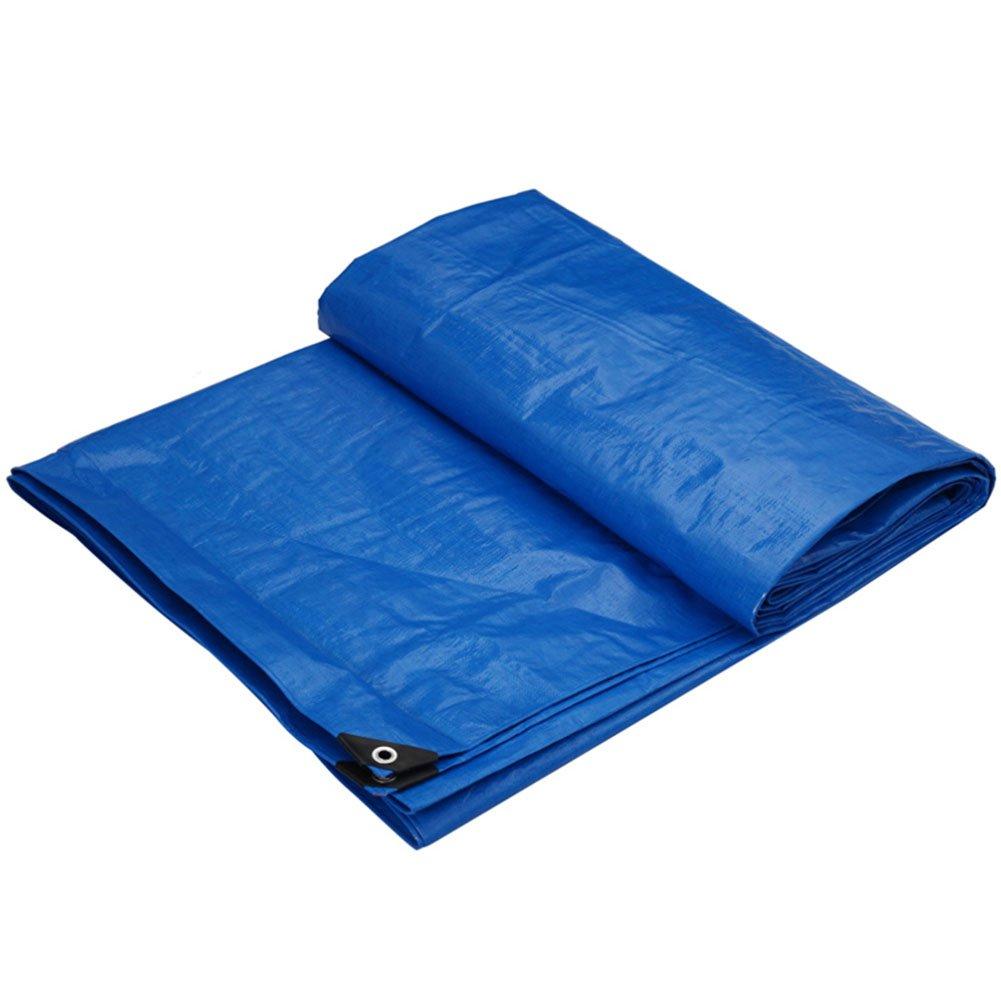 CHAOXIANG オーニング 厚い 折りたたみ可能 両面 防水 耐寒性 シェード 耐摩耗性 軽量 耐食性 PE 青、 175g/m 2、 厚さ 0.32mm、 10サイズ (色 : 青, サイズ さいず : 3x4m) B07D329F9X 3x4m|青 青 3x4m