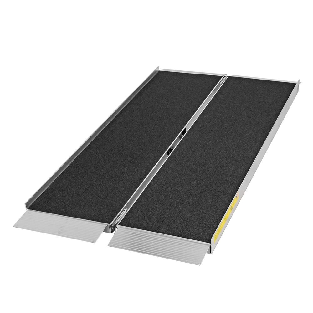 Silver Spring 2' L Portable Single-Fold Aluminum Wheelchair and Scooter Ramp with High-Traction Grit Coat Surface – 700 lb. Capacity