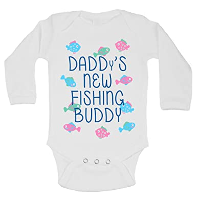3cc92bf81 Amazon.com  Daddys New Fishing Buddy Infant Kids Funny Onesie ...