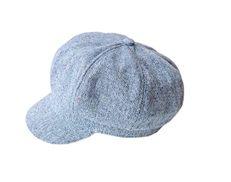 2471fd3e8be YueLian Women s Ladies Flat Hat Cap Cabbie Newsboy Hat Beret (Blue)  Amazon. co.uk  Clothing