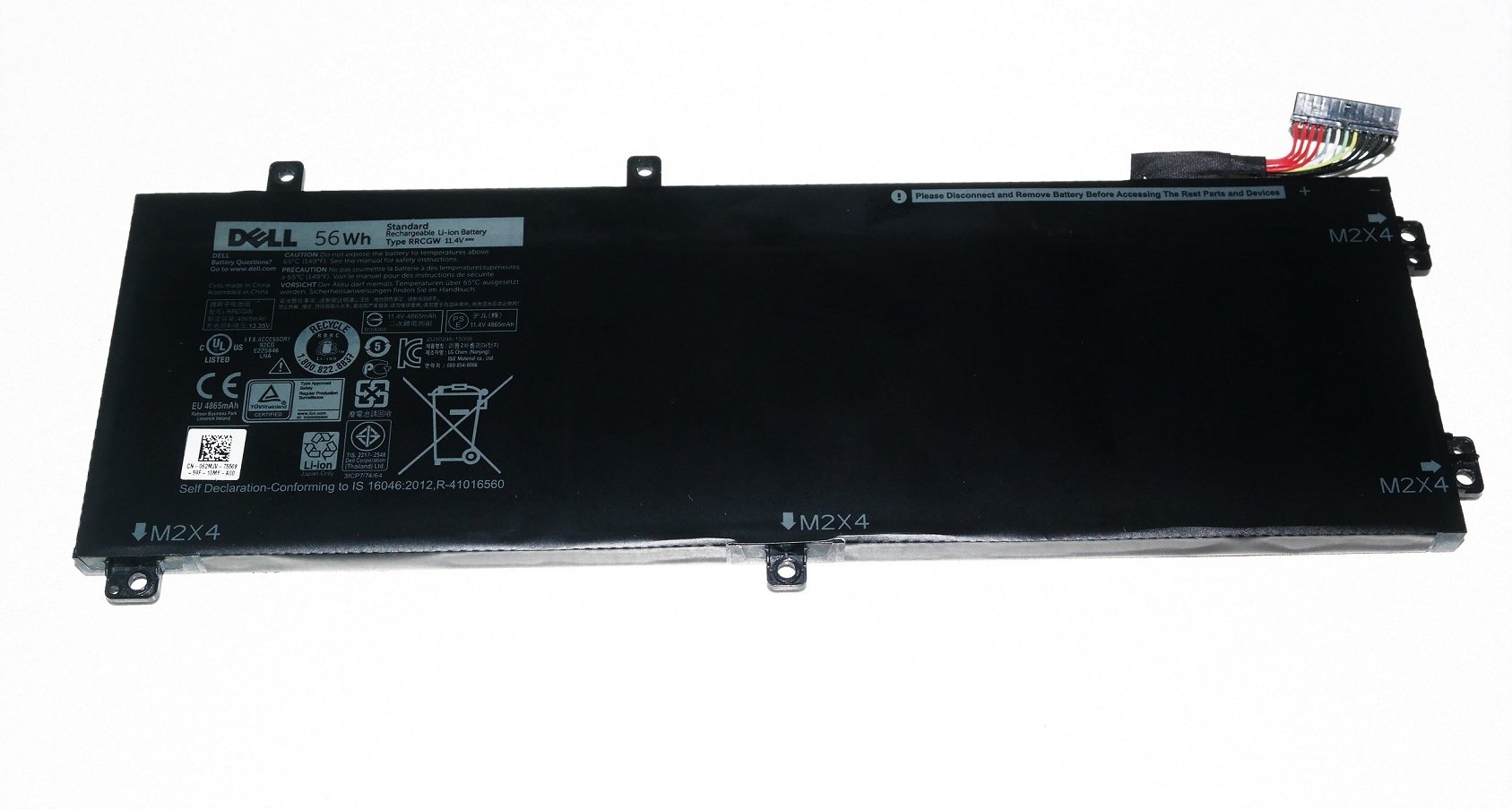 New Genuine Dell XPS 15 9550 and Dell Precision 5510 56WHR 3 Cell Li-ion Battery RRCGW