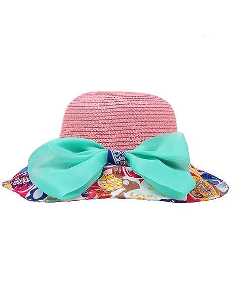 Cappello del Sole della Spiaggia Bambino Estate Sole Anti-UV Pieghevole  Spiaggia Grandi gronda Protezione c79a20177ff7