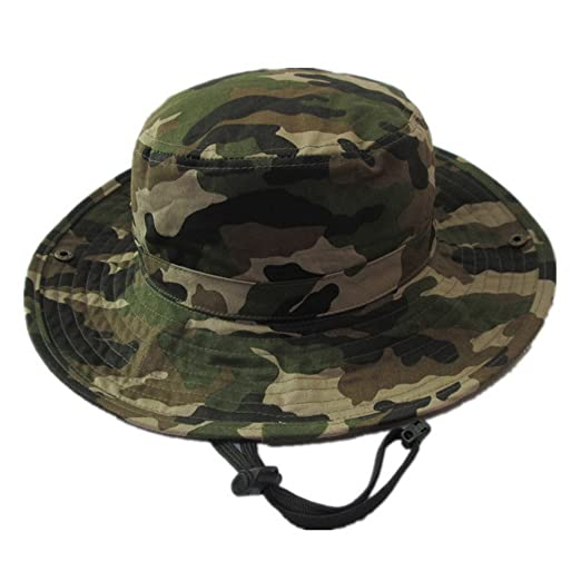 Happy Cherry Baby Summer Camouflage Bucket Hats With Chin Straps Side  Button Size 51cm 61d13003dc0