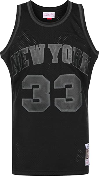Mitchell & Ness Back to Black New York Knicks Patrick Ewing Camiseta sin Mangas: Amazon.es: Ropa y accesorios
