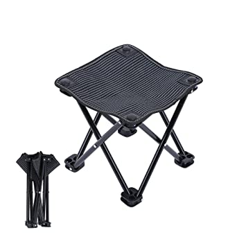 Mini Folding Stool Portable Square Stools Foldable Chair With Carry Bag,  Lightweight Outdoor Folding Chair