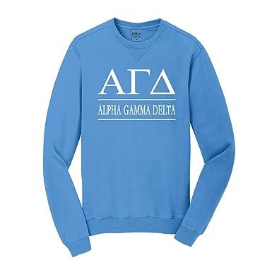 Sorority Letters Shop Alpha Gamma Delta Vintage Color Crewneck